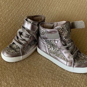Children's Place gold glitter high tops, size 13